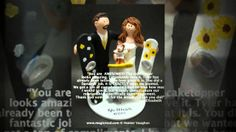Ski and Snowboarding Wedding Cake Toppers - by http://www.magicmud.com  1 800 231 9814 handmade to clients wishes , If you know a bride and groom who love to ski or snowboard, they would cherish these - the ultimate wedding cake topper and keepsake of the most memorable day of their lives!!  Perfect for downhill or cross country skiers, and the most ardent of snowboarding aficionados to crown their wedding cake with!