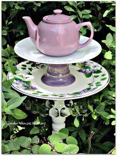 Lavender Teapot Garden Totem Stake  As by GardenWhimsiesByMary, $45.00