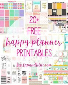 Free weekly planner printables to help you stay organized in the prettiest way possible! The Happy Planner is the perfect way to get and stay organized in the New Year. These weekly planner printables will help with that! Weekly Planner Printable, Free Planner, Planner Template, Printable Planner Stickers, Blog Planner, Free Printables, Planner Ideas, Schedule Templates, 2015 Planner