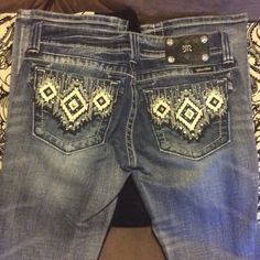 Miss Me Jeans Super cute miss me bootcut jeans. Inseam 34 inches. ***no trades*** Miss Me Jeans