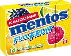 Mentos Kaugummi Full Fruit Pocketbox