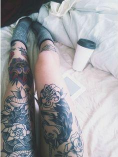 These leg tattoos