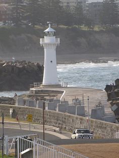 Wollongong Harbour Lighthouse 	 Tasman Sea 	 New South Wales 	Australia