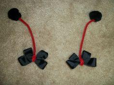 Ladybug antenna bow pair by CatyRoseBows on Etsy, $5.00