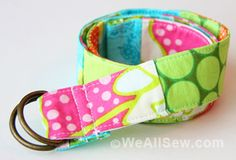 Very easy to sew patchwork belt, best stash-buster project for favorite fabric scraps. Fun fashion accessory for girls & boys of all ages.