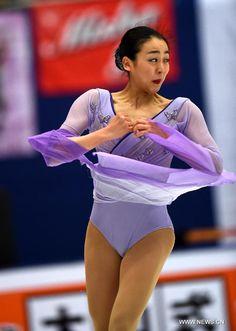 Mao Asada of Japan performs during the Ladies Free Skating program at the Audi Cup of China 2015 ISU Grand Prix of Figure Skating in Beijing, China, Nov. 7, 2015. (Xinhua/Guo Yong) (640×900) http://news.xinhuanet.com/english/photo/2015-11/07/c_134793436_3.htm