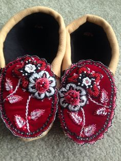 Iroquois moccassins made by Ashley Thompson Akwesasne