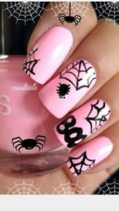 This is a really cute nail design for Halloween that I thought I would show u guys