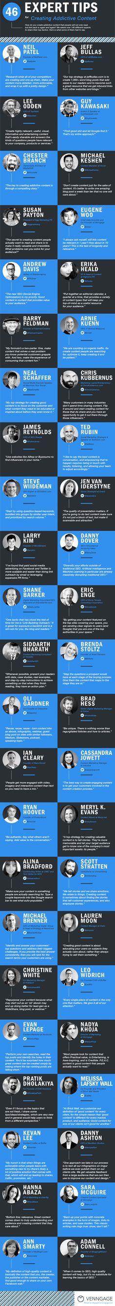 social-media-stra... 46 Tips For Creating Addictive Content venngage.com/...