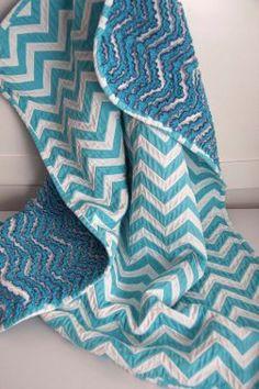 Chevron Cut Chenille Baby Quilt tutorial.  interesting idea