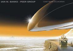 "Salwowski - Cover of Iain M banks' book ""Peer Group"" Savage Worlds, Matte Painting, Science Fiction Art, Sci Fi Fantasy, Fantasy Artwork, Sci Fi Art, Nonfiction, Illustrators, Original Artwork"