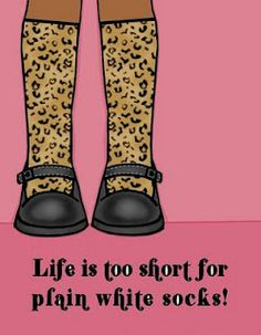 Which is why I always order myself a pair of crazy socks when I order them for my volleyball team, lol!