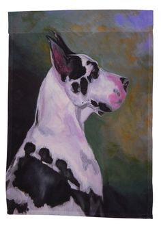 Great Dane, Harlequin - Garden Sized Flag