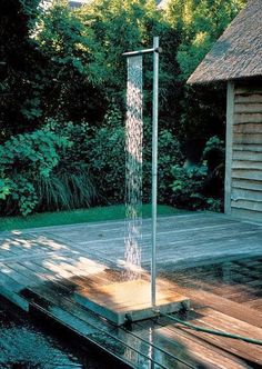 An Amazing Outdoor Shower