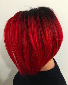 30 A line bob haircuts 2017 can find Bright red hair and more on our A line bob haircuts 2017 26 Bob Hairstyles For Fine Hair, Thin Hair Haircuts, Bob Haircuts, Easy Hairstyles, Girl Hairstyles, Wedding Hairstyles, Men's Hairstyle, Homecoming Hairstyles, Retro Hairstyles