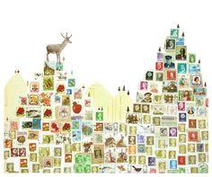 Lianne Harrison Stamp Collage