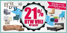 Dit weekend bij ons 21% korting!!!! www.tencatewonenenslapen.nl