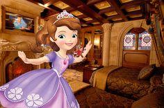 Sofia And The Mice At Cinderella's Castle In Disney World