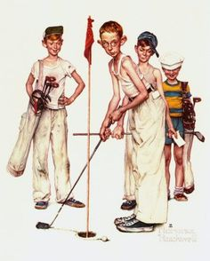 Norman Rockwell - Sporting boys