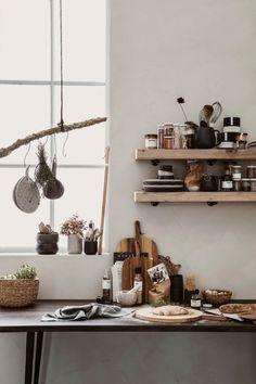 Natural Kitchen, Kitchen Trends, Floating Shelves, Home Office, Cottage, Interior, House, Inspiration, Instagram