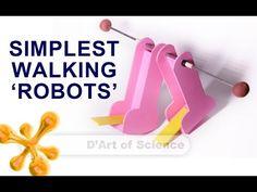 How to make a self walking robot - DIY Bipedal Robot - dartofscience - YouTube