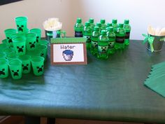 Drinks at a Minecraft Party #minecraft #partydrinks