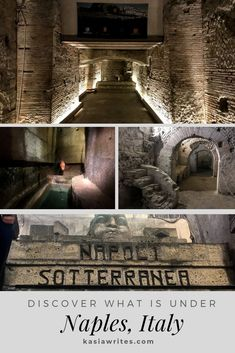 There are many ancient secrets hiding in the Naples underground. Discover a Roman theatre hidden passages ancient markets and water cisterns right under the modern day city. Italy Travel Tips, Europe Travel Guide, Travel Guides, Travel Abroad, Things To Do In Italy, Places In Italy, Europe Destinations, Honeymoon Destinations, Backpacking Europe