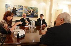 La Presidenta Cristina Kirchner recibió en Olivos al secretario general de la Unión Sudamericana de Naciones (UNASUR), Ernesto Samper.