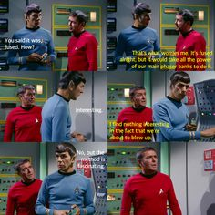 Seriously, Spock? From That Which Survives (Star Trek)
