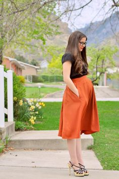 DIY Clothes Maternity Refashion : DIY The quick way to shorten and tighten a skirt.