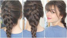 Five Strand Dutch Braid On Own Hair | Tutorial