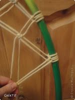 How to make suspended chair hammock in macrame technique - Simple Craft Ideas Macrame Hanging Chair, Macrame Chairs, Hammock Chair, Swinging Chair, Diy Friendship Bracelets Tutorial, Diy Bean Bag, Easy Crafts, Diy And Crafts, Wicker Headboard