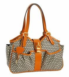 Click Image Above To Purchase: Mia Bossi Diaper Bag Caryn In Tangerine Diaper Holder, Fashionable Diaper Bags, Baby Online, Branded Bags, Baby Boutique, Baby Gear, Purses And Handbags, Tote Bag, Leather