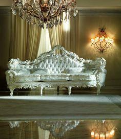 Fabulous White Victorian Rococo Sofa