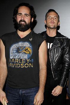 Brandon Flowers, Ronnie Vannucci. The Killers. #TheKillers #Ronnie #Brandon