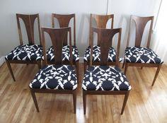 6 Mid Century Broyhill Brasilia Dining Chairs in Newburyport, Massachusetts ~ Apartment Therapy Classifieds