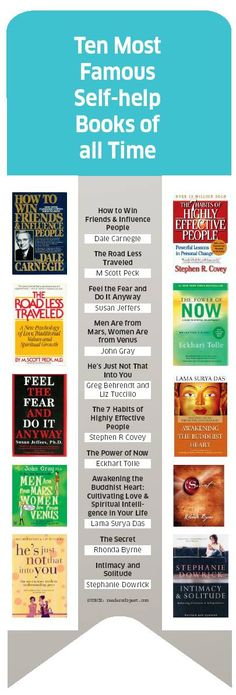 Top 10 Famous Self Help Books of All Time: i will read them. I will write them.