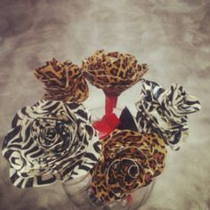 Roses made with duck tape