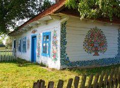 Poola värviline küla Zalipie.