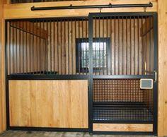Kentucky tobacco barn turned into horse barn. Lucas Equine.