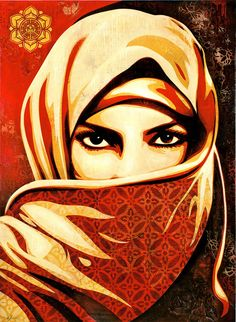 """Since Islamophobia ratcheted up post-9/11 and the Iraq War started, I've made images to remind people that Arabs and Muslims deserve the same human rights as everyone else and should not be viewed with irrational suspicion. When I look at humanity in general, I think most people want to live their lives in peace. I frequently refer to the Dalai Lama when he asks, """"When human beings have so much more in common, why do we focus on our differences?"""""""