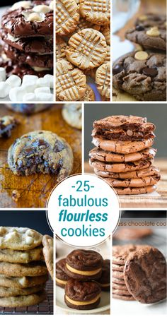 flourless cookie collage