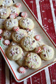 Peppermint Dream Cookies from @RecipeGirl {recipegirl.com}