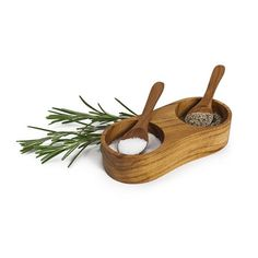 Teak Salt & Pepper Set $24