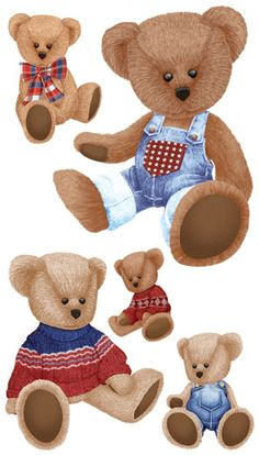 Teddy Bears Decorative Wall Stickers Self Stick Removable And