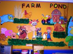 farm and pond theme board