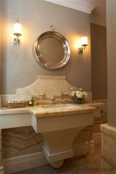 Such an elegant effect created by making the sink support architectural.