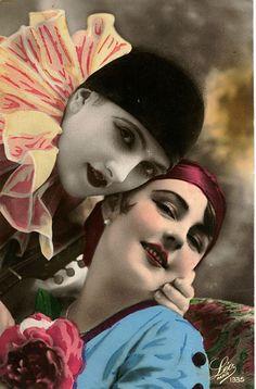 vintage harlequin photo taken in 1933