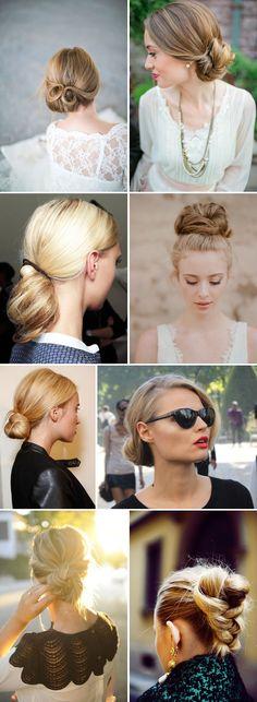 Chic Chignons Wedding Hair Inspiration