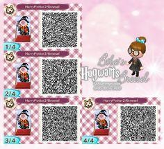 Wizard - Zauberer - Zauberschüler - Broesel Spiel - A letter from Hogwarts - Harry Potter - Fotowand - Bilderwand - faceboard - photo stand - Animal Crossing New Leaf - ACNL - QR - Broesel